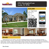 Real Estate Print Flier